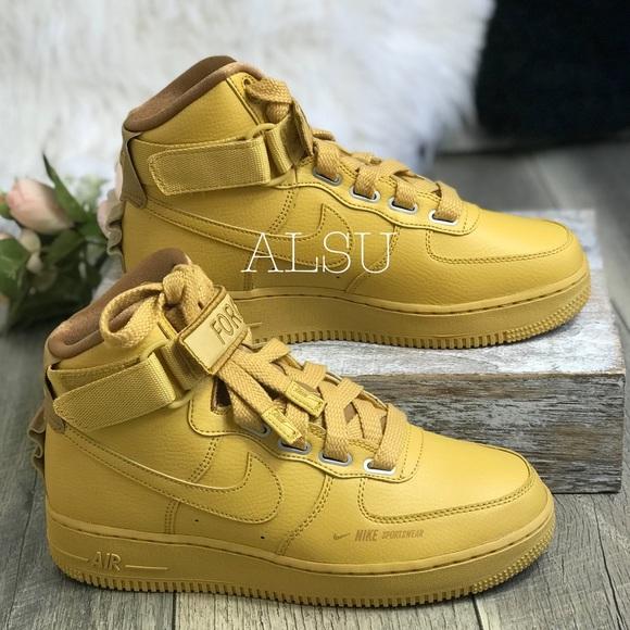 newest bf7e8 3682f NWT Nike AF1 HI UT Wheat 🌾 Gold AUTHENTIC NWT